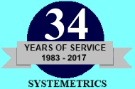 Systemetrics, Inc.:  34 Years of Service